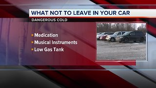 You shouldn't leave these items in your car during dangerous cold