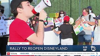 Rally for California to reopen Disneyland