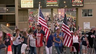Hundreds attend 'Stop the COVID Chaos' rally at Bandimere Speedway