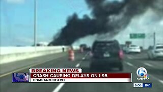 Pompano Beach car fire