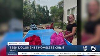 Local teen documents homeless crisis