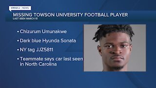 Missing Towson University football player