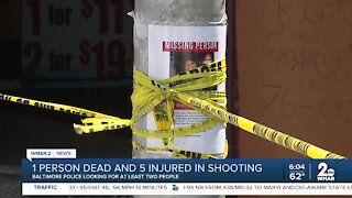 1 person dead and 5 injured in shooting