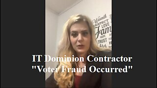 IT Contractor, Mellissa Carone, for Dominion Ballot Counting Software Exposes Voter Fraud in Detroit