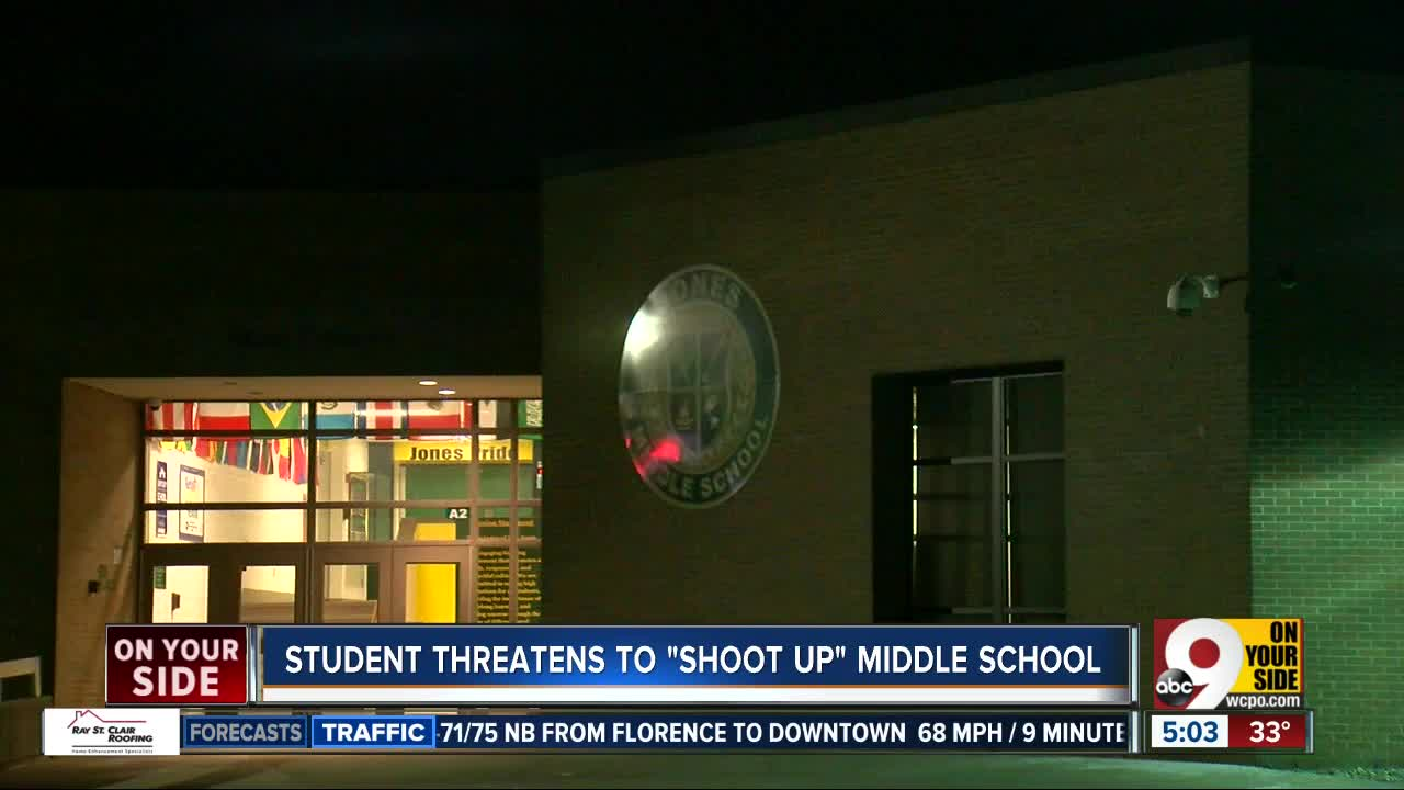 Student in Boone Co. arrested for threatening to 'shoot up' school