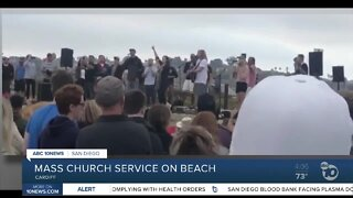 Mass church service on beach
