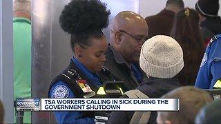 TSA employees calling off sick during government shutdown