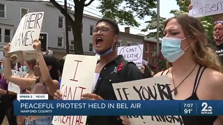 Peaceful protest held in Bel Air
