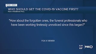 Who should get the vaccine first?