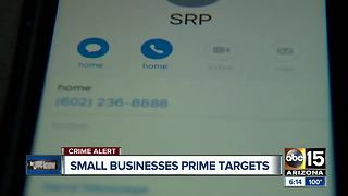 Scammers targeting small businesses in Arizona