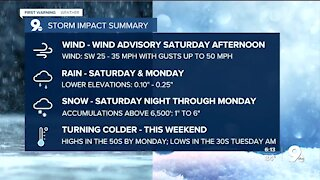 Wind advisories go into effect Saturday afternoon