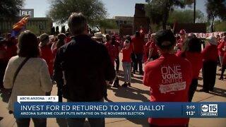 Invest for Ed returned to November ballot