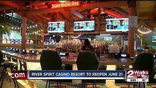 River Spirit Casino to reopen June 21