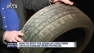 How to spot possible damage from potholes