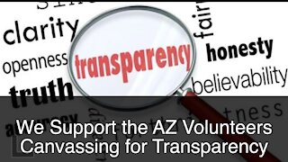We Support the Canvassing by Volunteers to find voter irregularities