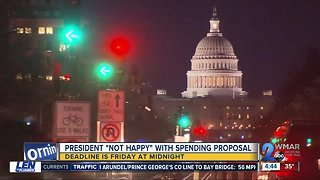 """President Trump """"not happy"""" with spending proposal"""