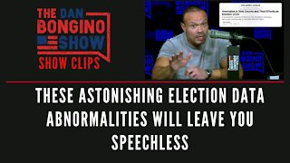 These astonishing election data abnormalities will leave you speechless - Dan Bongino Show Clips