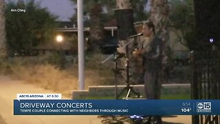 Tempe couple holding driveway concerts with neighbors