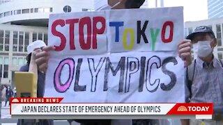 Japan Declares State Of Emergency In Tokyo Just Weeks Before Olympics
