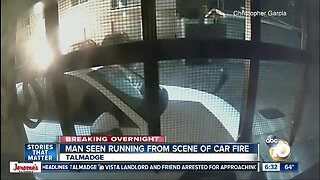 Search on for man seen running from car fire in Talmadge