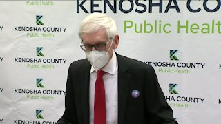 Gov. Evers tours new Kenosha COVID clinic