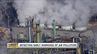 Detecting early warnings of air pollution