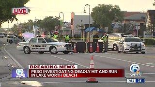 Pedestrian killed in Lake Worth Beach hit-and-run crash