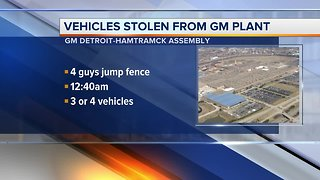 Thieves drive off with cars stolen from GM Detroit-Hamtramck Assembly plant
