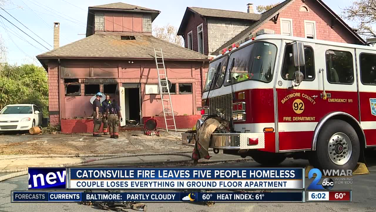 Catonsville fire leaves five people homeless