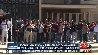 Foothill High School celebrates two championships