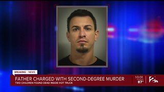 Father charged with second-degree murder in kids' deaths