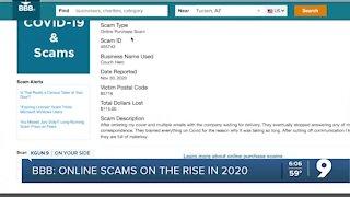 Better Business Bureau top scams of 2020
