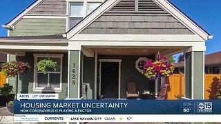 Housing market uncertainty during coronavirus crisis