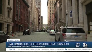 Baltimore Co. Officer shoots a suspect