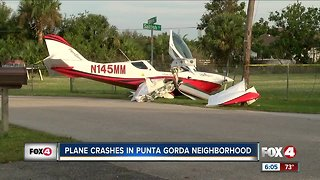 A small plane crashes in Charlotte County