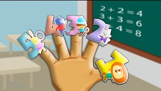 Finger Family Learn Numbers Song Nursery Rhymes YouTube