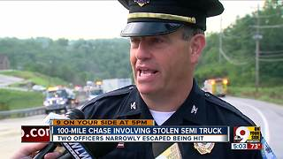 Semi driver leads police on 100-mile multistate chase