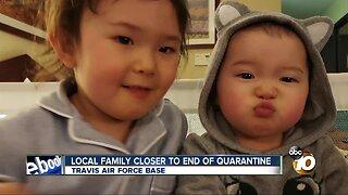 San Diego family closer to end of coronavirus quarantine