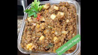 Puerto Rican Picadillo with Potatoes