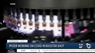 Pfizer working on COVID-19 booster shot
