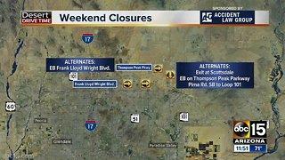 Weekend traffic alert for 3/29-4/1