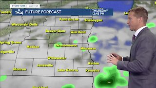 Scattered showers Thursday morning, relatively dry afternoon