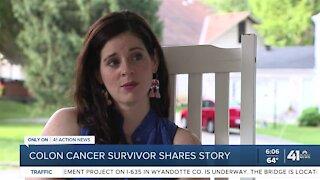 Colon cancer survivor shares a story