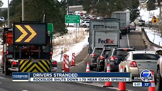 I-70 reopens near Idaho Springs after rockfall mitigation