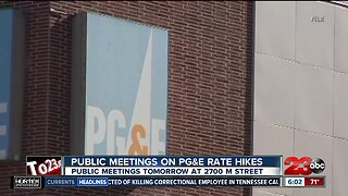 Public hearings to be held concerning PG&E rate increase