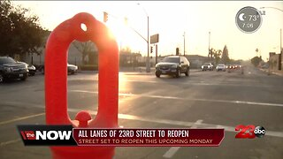 Officials say all lanes of 23rd Street expected to reopen next week