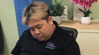 Employee caught sleeping on the job