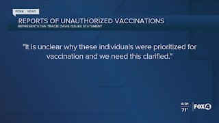 Rep responds to reports of unauthorized vaccinations