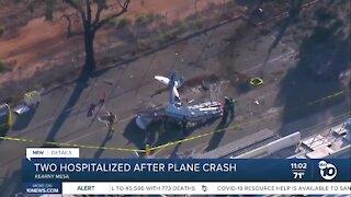 Two hospitalized after plane crash