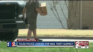 Tulsa Police looking for mail theft suspect